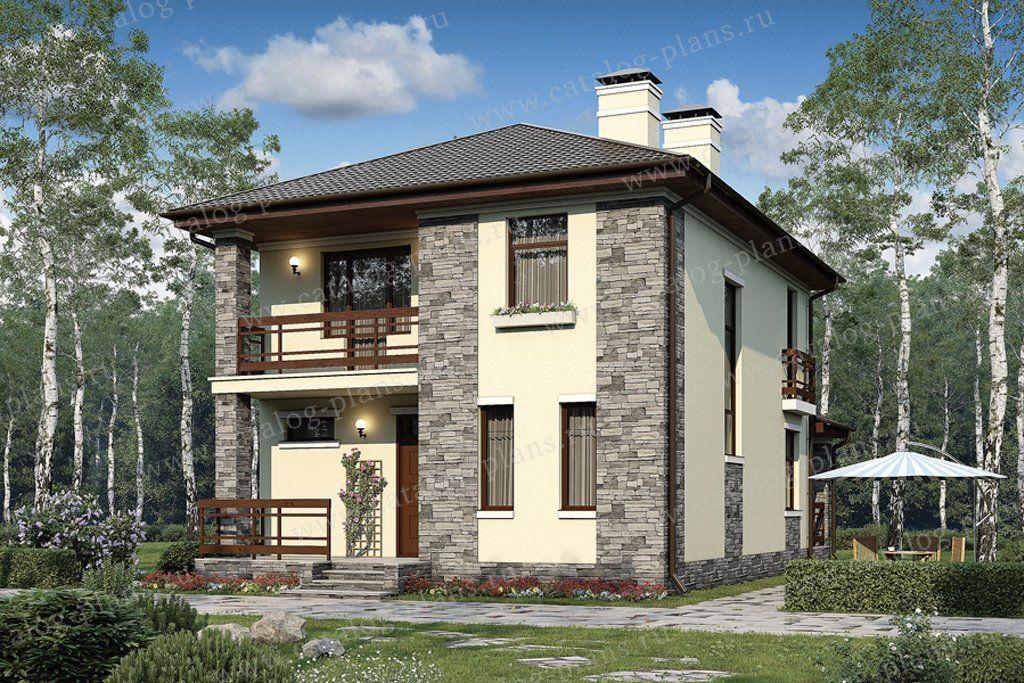 Проект дома №57‑07A из газобетона