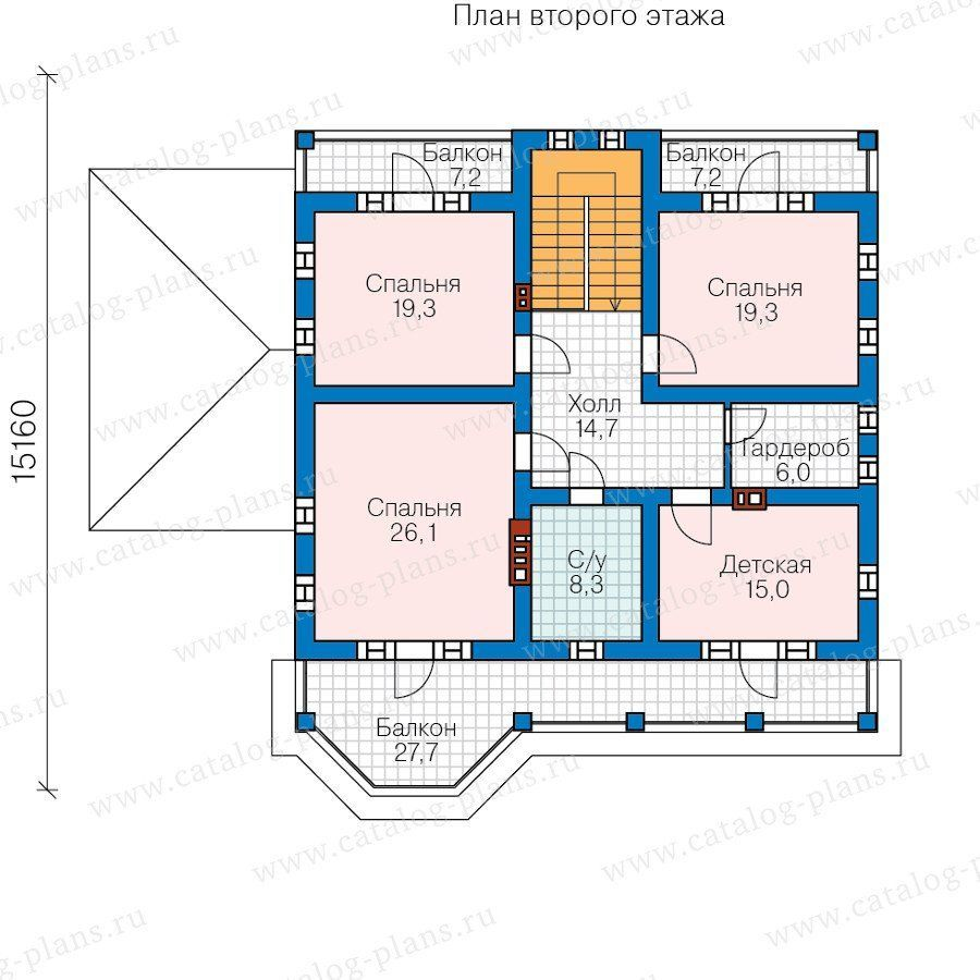 Проект пенобетонного дома из теплой керамики p01392.